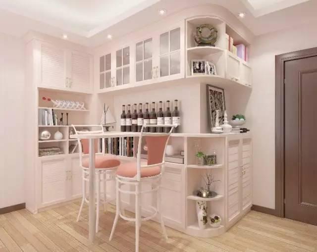 一般与餐厅相连 不仅满足鞋柜,储物等功能 亦可结合吧台柜与酒柜的图片