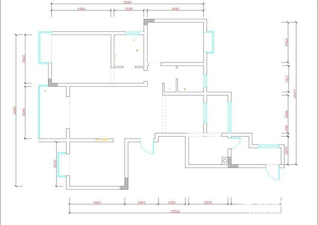 cad基础自学教程,平面图中的窗和墙表显