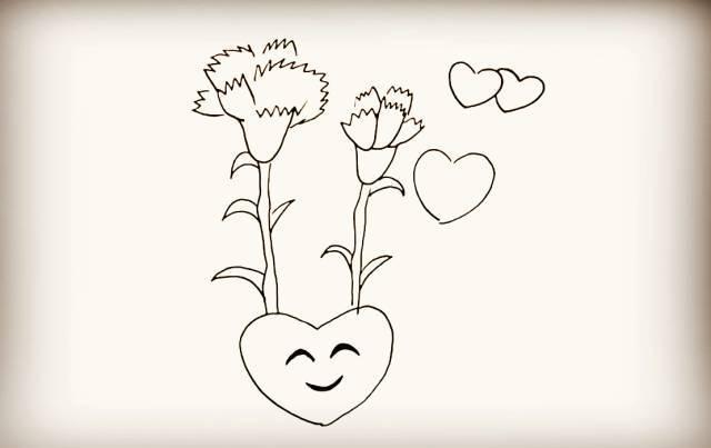爱心q版儿童简笔画