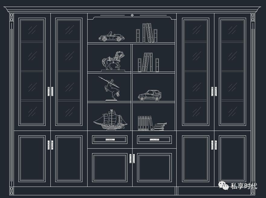 社会 正文  书柜,衣柜,橱柜cad素材 大小  120m  注:截图至少一部分