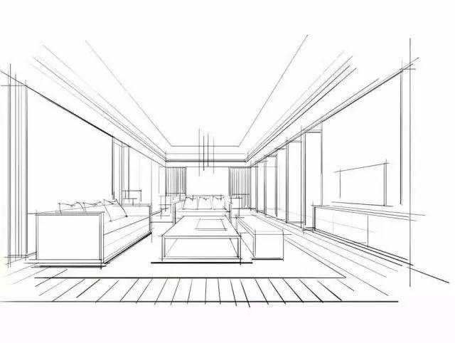 多功能沙发手绘图线稿