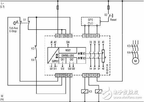 安全继电器工作原理,接线图,使用方法图解