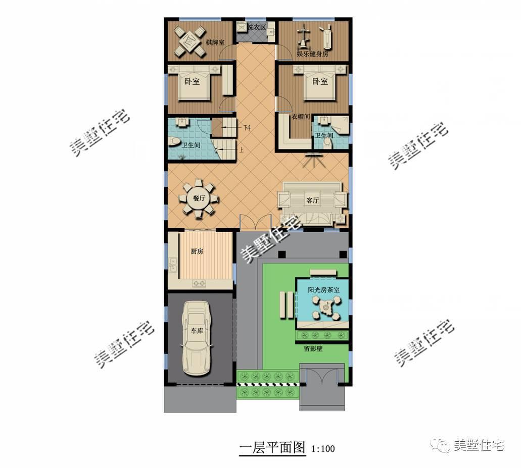 别墅每层内部结构图
