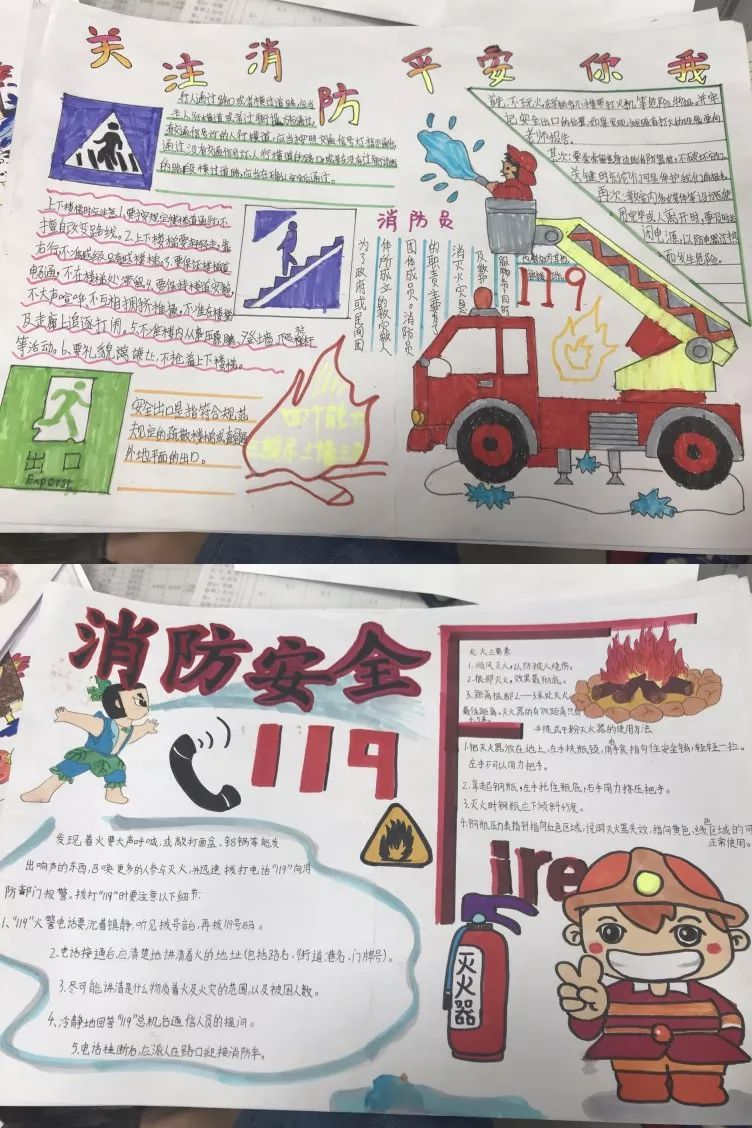 消防主题手抄报展评图片