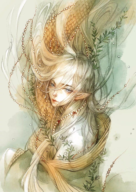 唯美古风美人画,她用细腻的笔触,展现中国的古风
