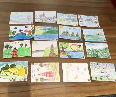 """百余名小学生手绘""""最美苏城"""" ,万余张明信片将飞向全世界"""