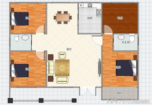 10款一层农村别墅设计图,造价15万,保你30年不过时