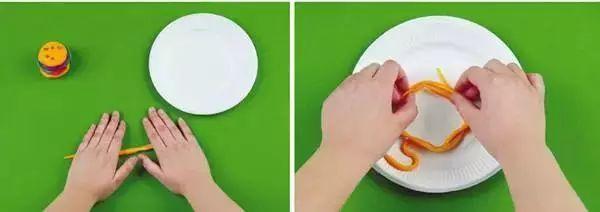 幼儿盘子彩泥手工制作图片