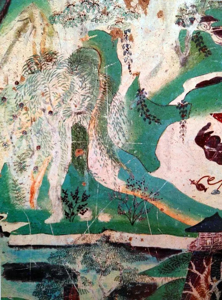 """在盛唐敦煌壁画中,除了描绘""""游春图""""一般的山间美景,还有一些气魄更图片"""