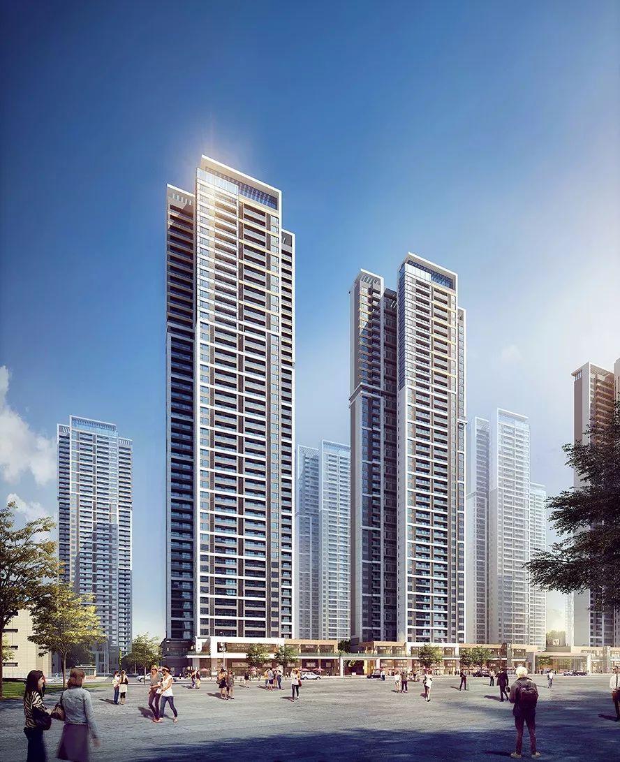 公�:-a:+�_项目立面采用地标豪宅常用的公建化的设计手法,塔楼采用黄金比例分割