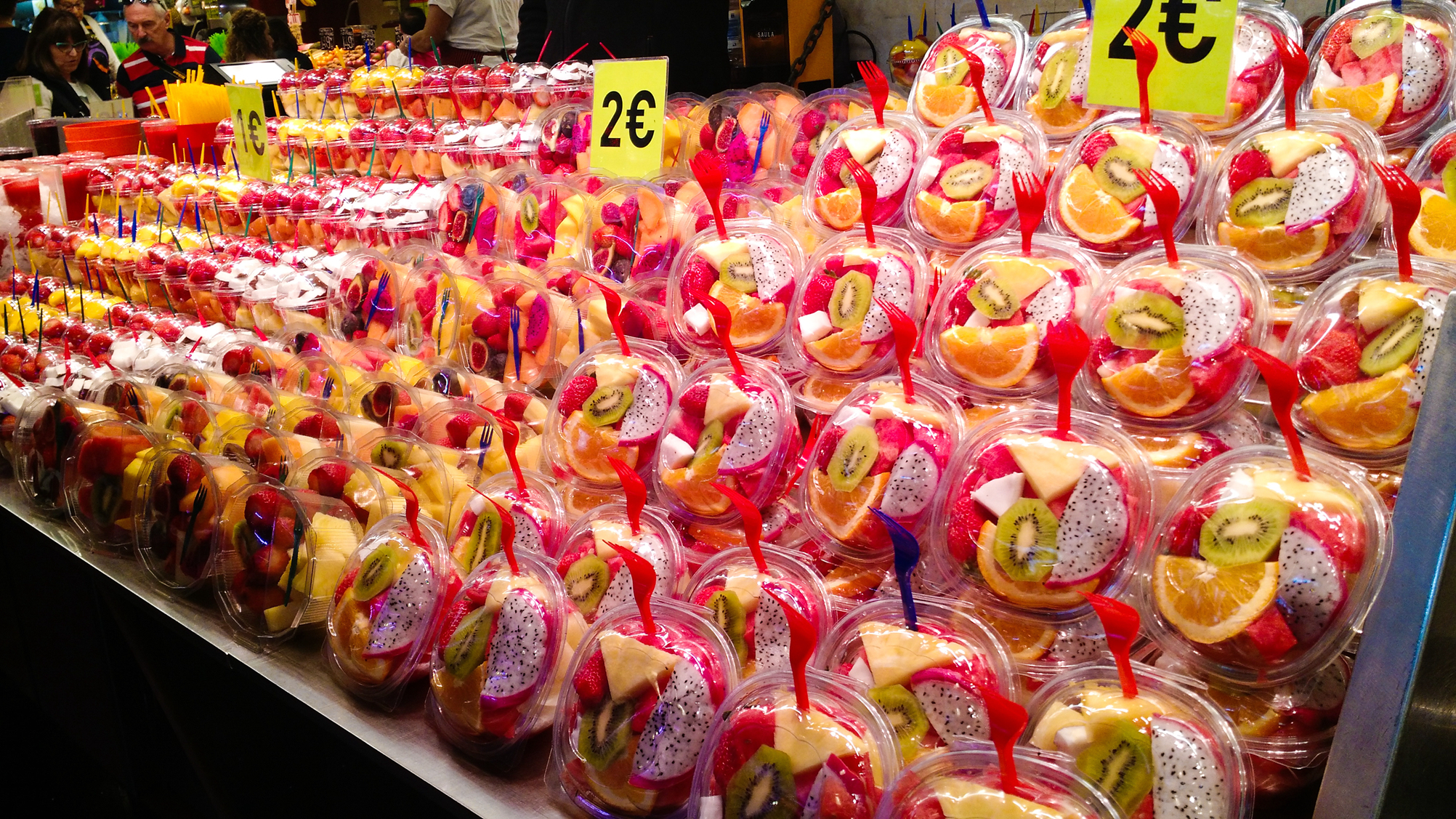 1元一杯,水果切块论盒卖,这家市场是吃货的天堂