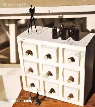 木工 铁罐diy手工制作分类多多的收纳柜1113
