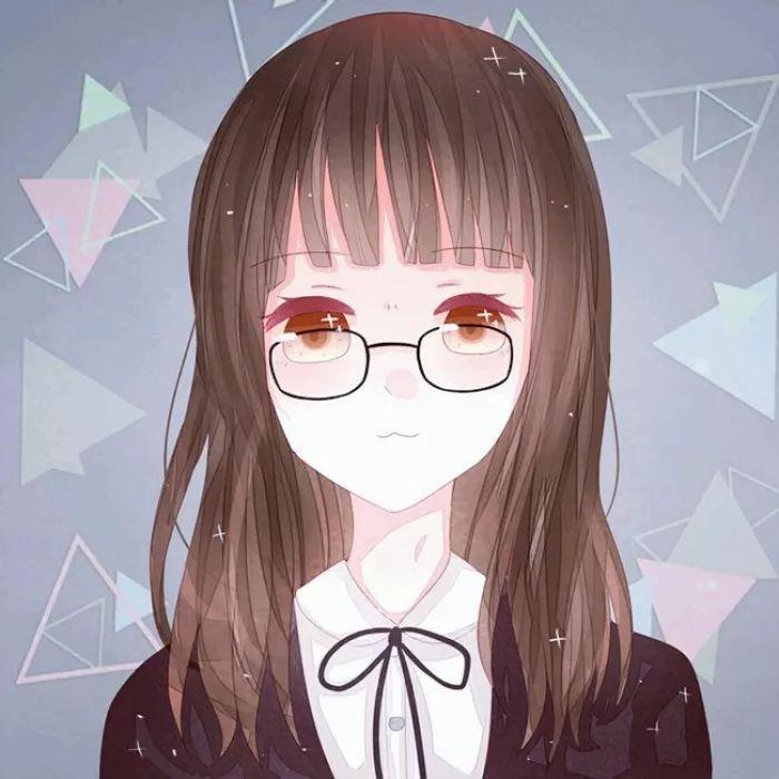 动漫眼镜女孩头像