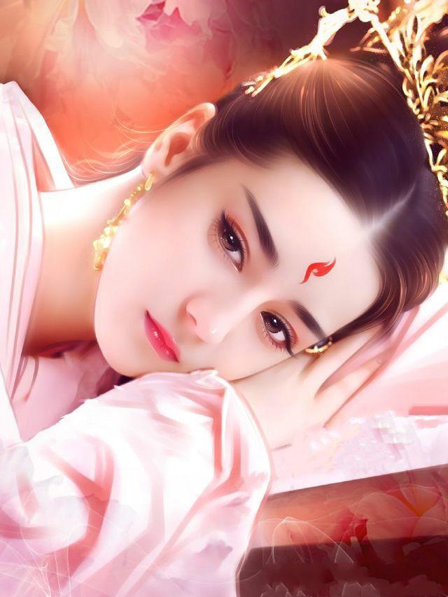 迪丽热巴古装手绘版,每一张都堪称精致,第五张比刘亦菲都仙!