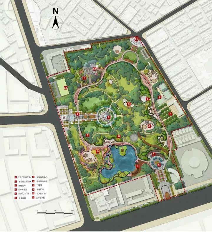 长青公园规划平面图