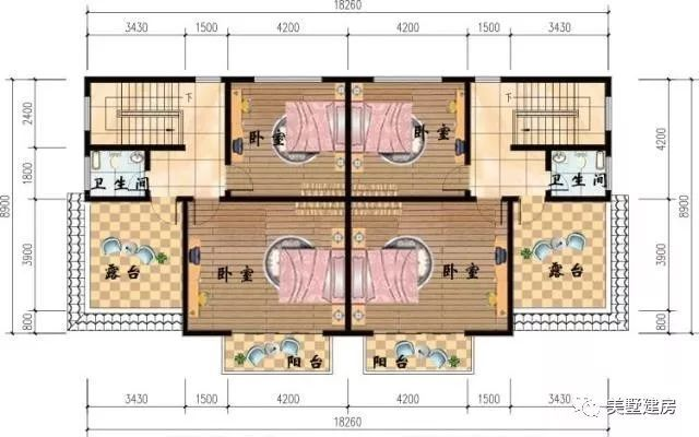 4x10.5米1层的农村自建房别墅. 第二套:16.8x12.