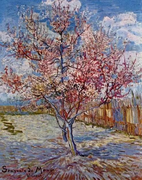 幼儿桃树绘画作品