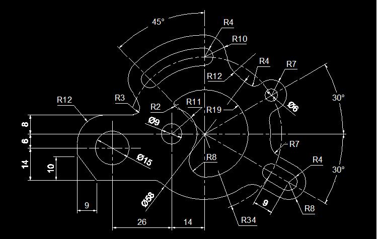 cad新手入门:多种类型基础口令大全+千张练习图纸