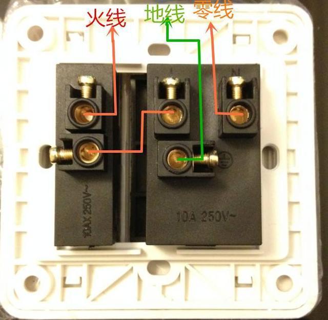带开关的五孔插座接线图接法是什么?