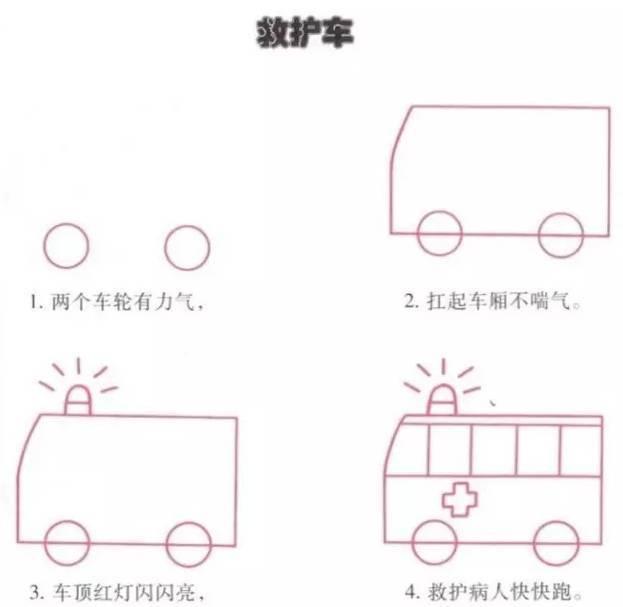 幼儿园简笔画教程,建议收藏 附口诀