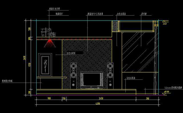 室内设计空间分享,cad经典模块分布,大师图cad跑步机装潢图片