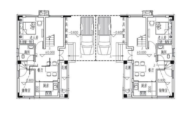 易盖房图纸 广东省新农村设计的农村别墅,两层半双拼农居