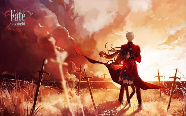 无限剑制玉.b�J.Z��_《fate》压箱底的动漫高清图,应网友需求发了英灵的凛和无限剑制