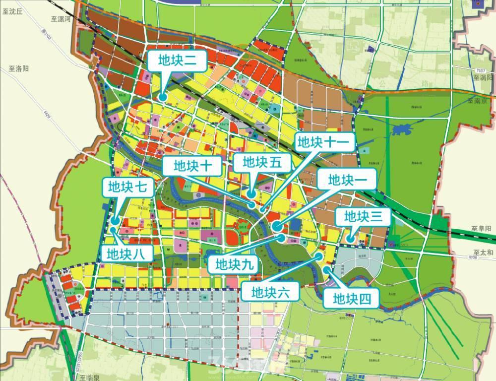 界首市1226亩优质商住用地集中推介 共计