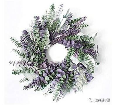 2,最美圣诞花环:紫色尤加利叶花环