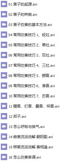 中华民谣笛子谱