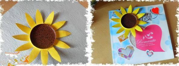 母婴 正文  制作步骤:先把纸杯开口边缘剪掉; 06 创意diy向日葵 在