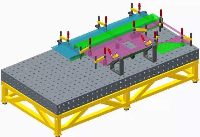 三,组成 三维柔性组合工装夹具由9大模块组成. 1.图片
