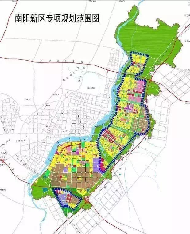 南至宛城区溧河乡南边界,规划面积约190平方公里,是南阳规划的7大区域图片