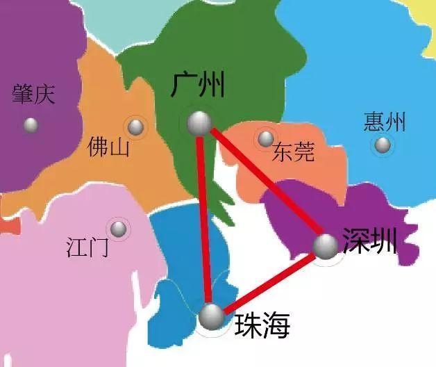"""广东第二轮改革顶层设计——""""双三角""""框架结构图片"""