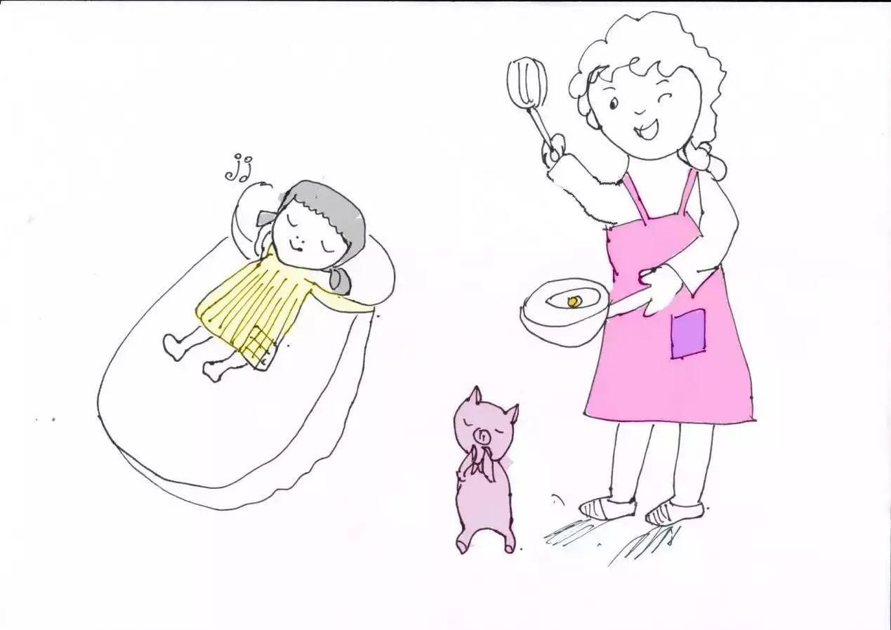 几幅手绘图,记录一个教师妈妈365天中的一天.