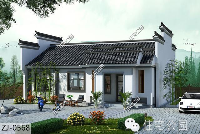 农村一层房屋设计图大全 农村平房房屋设计图效果