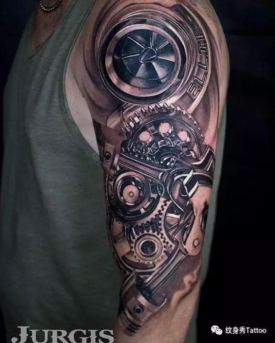 炫酷机械纹身