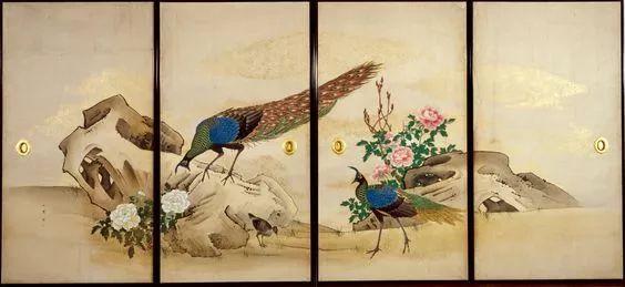 金碧重彩的日式传统屏风画和宋元明清的千丝万缕