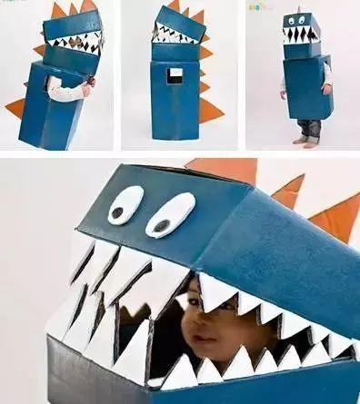 纸箱儿童手工制作恐龙