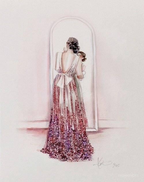 可以照着画的服装手绘效果图 学习服装插画