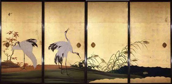 金碧重彩的日式传统屏风画和宋元明清的千丝万缕图片