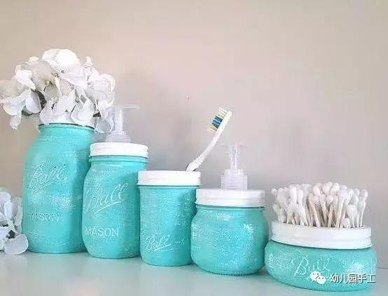 利用的小制作,很简单的diy,立马让这些貌似无用的瓶罐变成了烛台,花瓶