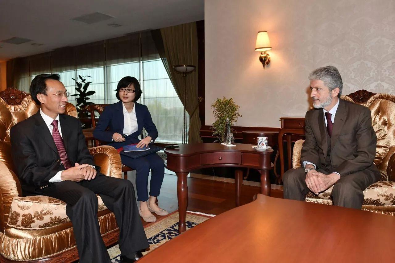 郁红阳大使拜会安卡拉新任市长