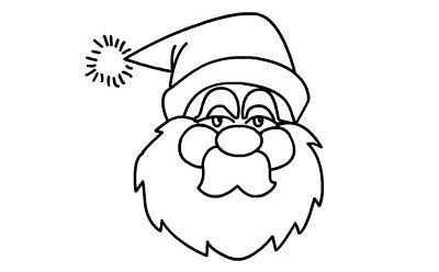 儿童简笔画 圣诞老人绘画教程,步骤详细清晰,孩子易学