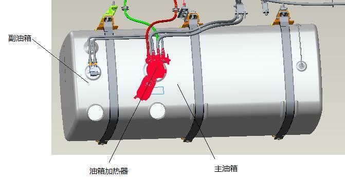 正文  副油箱加注低标号柴油作为冬季启动时使用,主油箱在寒冷冬季图片