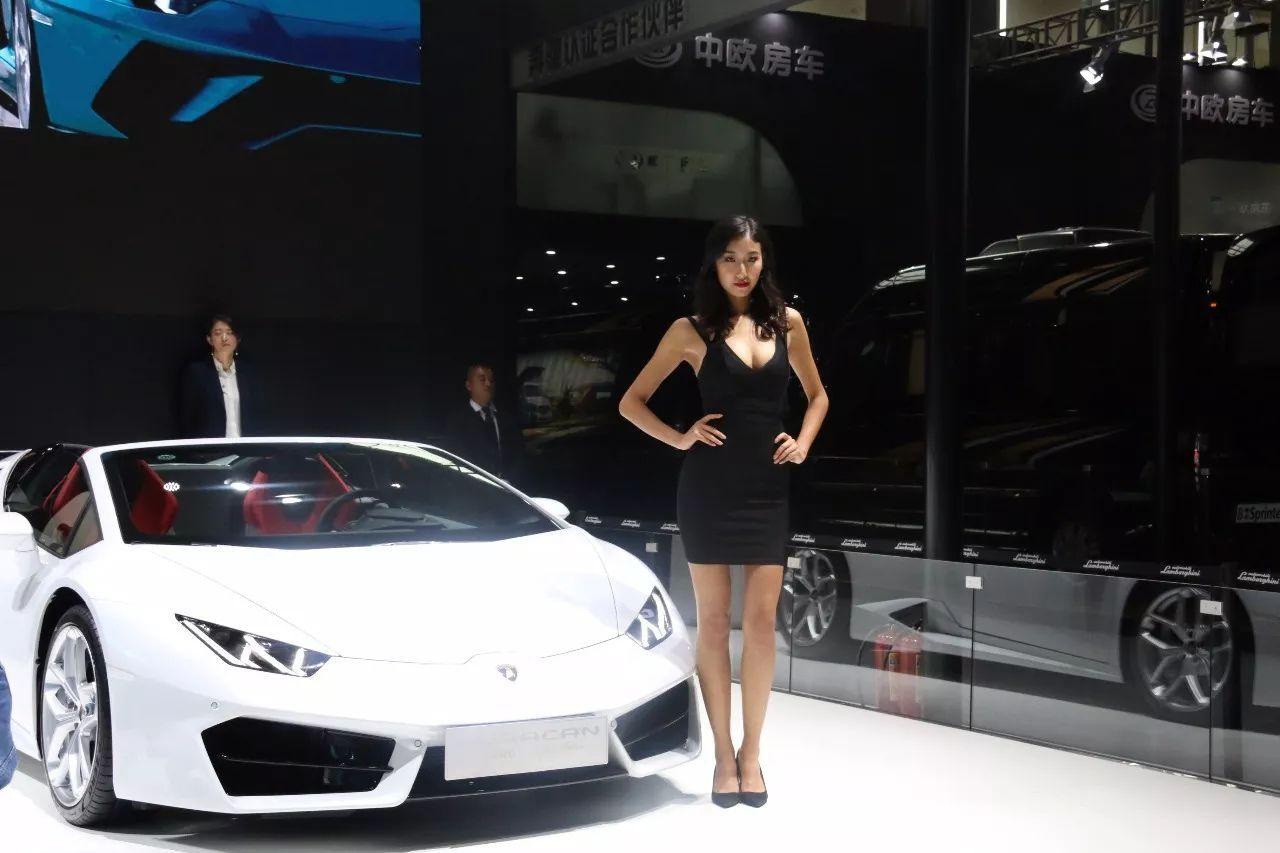 车美女齐齐亮相2017广州车展 驾视高清图片