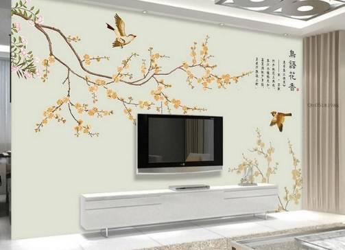 手绘背景墙,一种艺术的美,为家增添光彩!