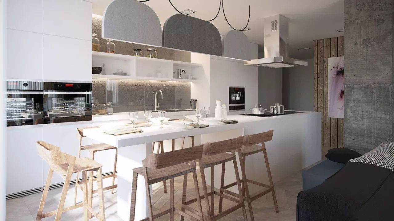 """图源:室内设计字型中岛与一体呈""""t""""联盟适合建筑客餐厅餐桌摆放设计图总平面图建筑轮廓图片"""