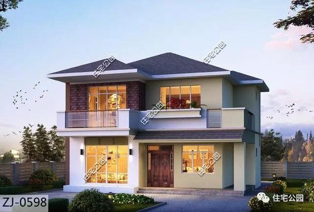 3套农村10x11米二层别墅,户型方正,造价低!