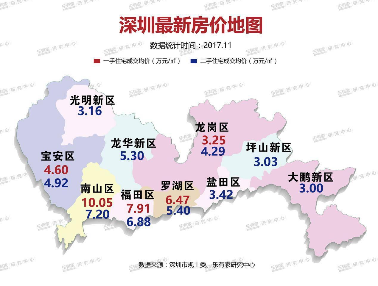 深圳 东莞 惠州 中山房价地图曝光!看看你还买的